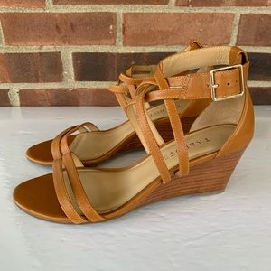 Like new Talbots ankle strap wedge sandals